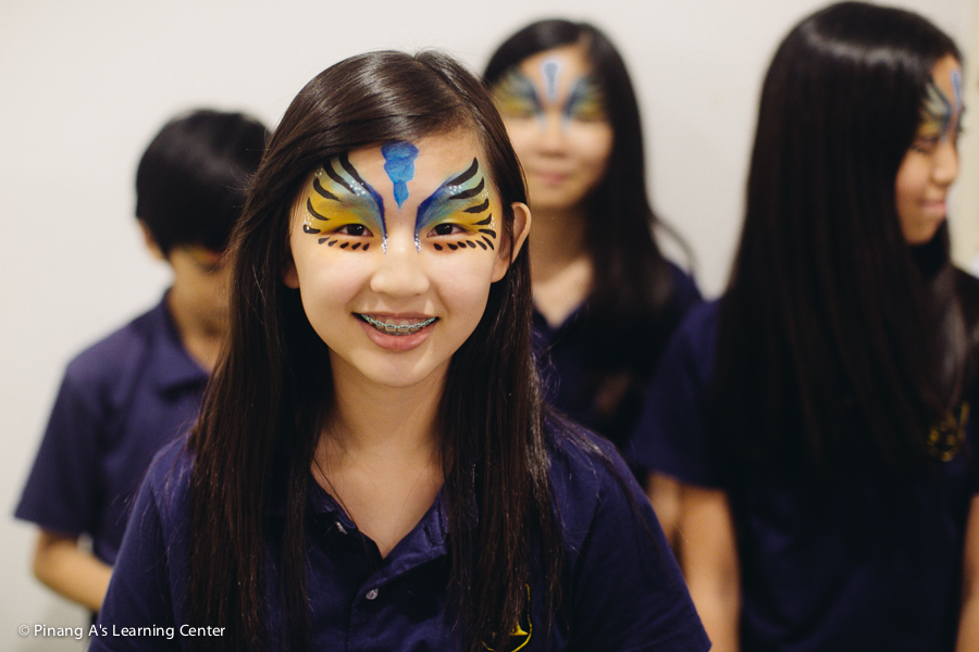 pinang a's learning centre, concert face painting