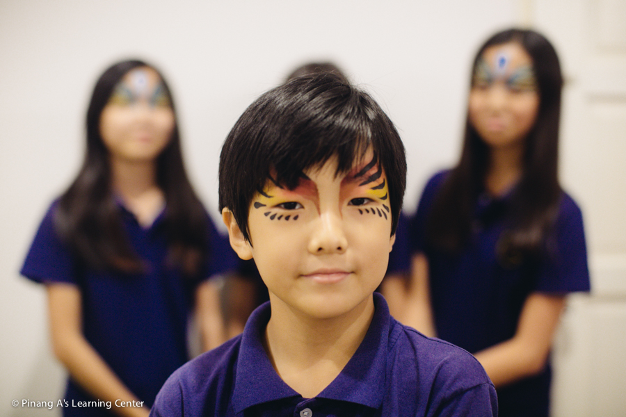 pinang a's learning centre, concert night, face paint