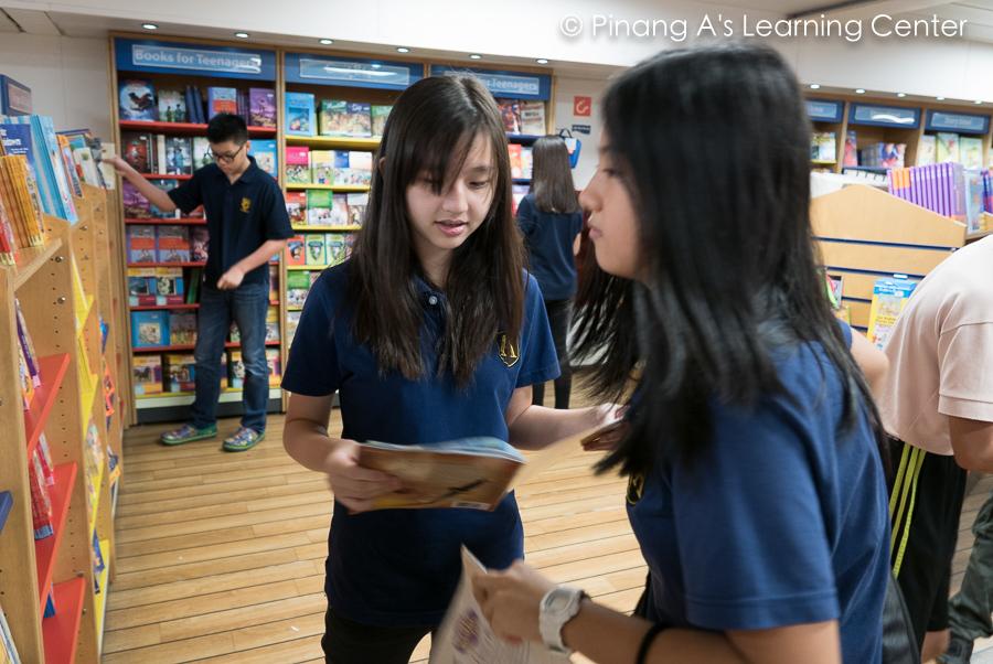 Penang Homeschool students reading books